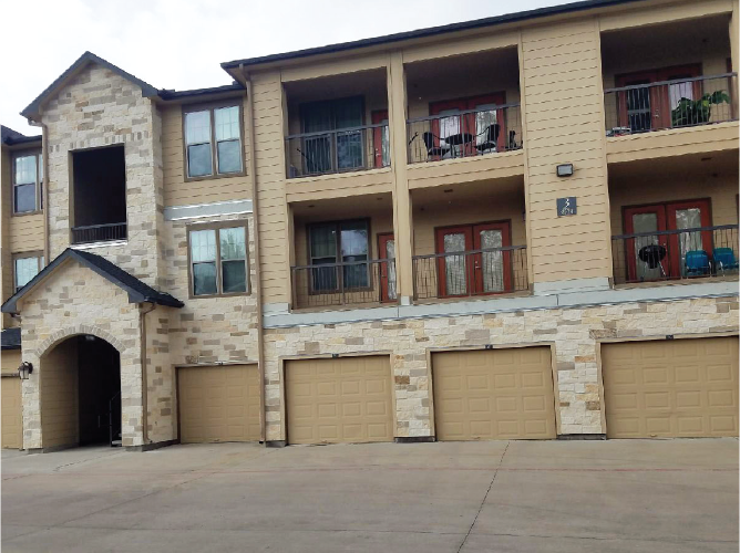 two story apartments with individual garages